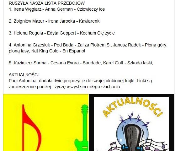 Przeglądasz zdjęcia z artykułu: Muzyczna Lista Przebojów - Listopad - grudzień 2011