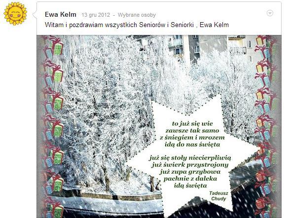 Przeglądasz zdjęcia z artykułu: Życzenia świąteczne - Boże Narodzenie 2012