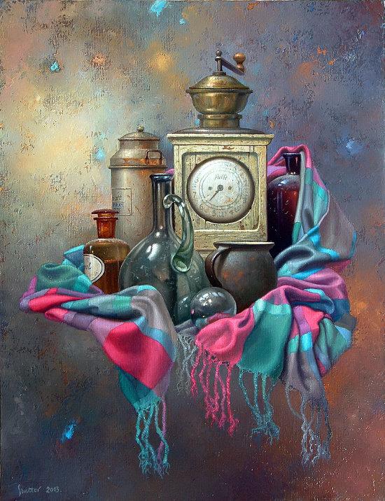 """Przeglądasz zdjęcia z artykułu: Edward Szutter – Pod pozorem codzienności … – malarstwo  – Galeria """"Format"""" – 21.08.-30.09.2014"""