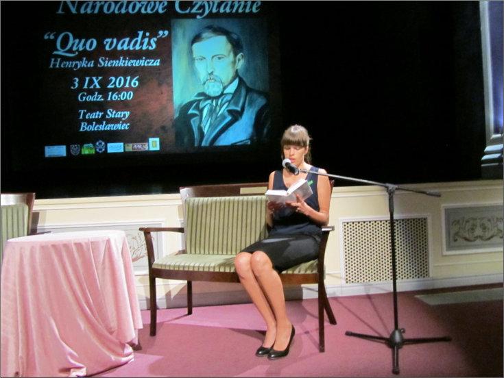 """Przeglądasz zdjęcia z artykułu: NARODOWE CZYTANIE – HENRYK SIENKIEWICZ """"QUO VADIS"""" – 03.09.2016"""