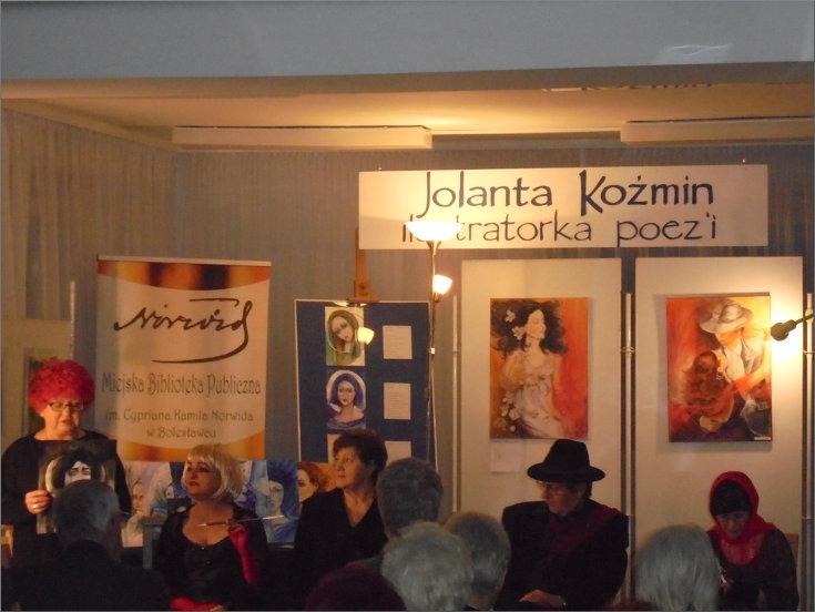 Przeglądasz zdjęcia z artykułu: FINISAŻ WYSTAWY - Jolanta Koźmin - Ilustratorka poezji - Galeria 'Format' - 20.01.2017, godz. 17:00