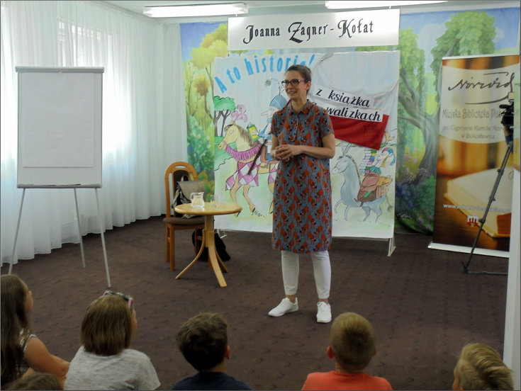 Przeglądasz zdjęcia z artykułu: JOANNA ZAGNER-KOŁAT – WARSZTATY PLASTYCZNO-LITERACKIE – 09.06.2017