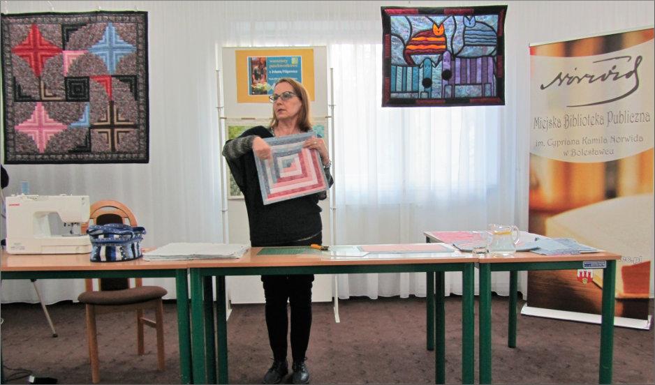 Przeglądasz zdjęcia z artykułu: JOLANTA FILIPOWICZ – WARSZTATY PATCHWORKOWE – 21.02.2017
